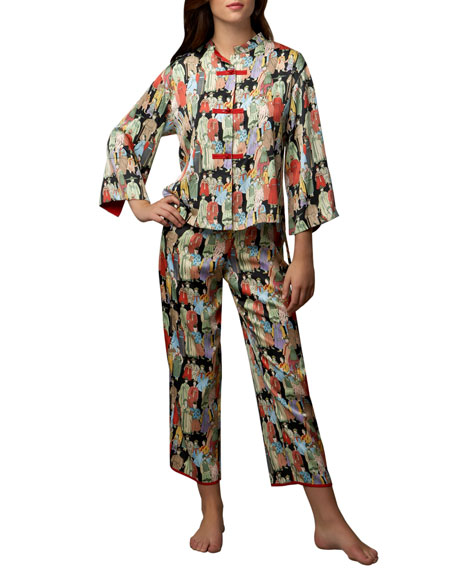 Two-Piece Dynasty Printed Pajamas