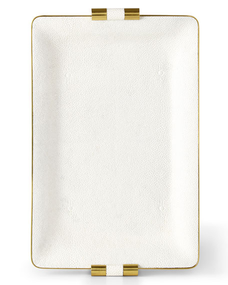 AERIN Small Faux-Shagreen Desk Tray