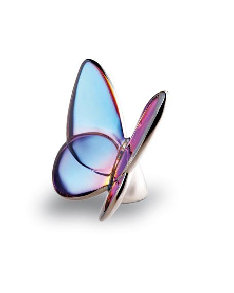 """""""Lucky"""" Butterfly, Blue Iridescent"""