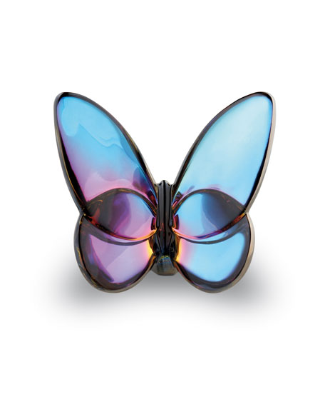 """Lucky"" Butterfly, Blue Iridescent"