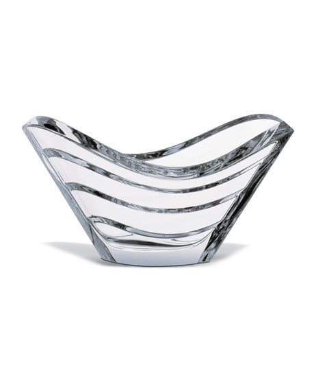 Baccarat Wave Bowl, Clear