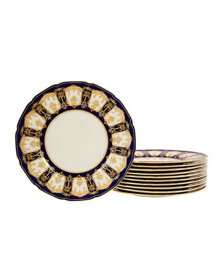 sc 1 st  Bergdorf Goodman & Devonia Antiques Set of 11 Royal Doulton Cobalt and Gold Plates