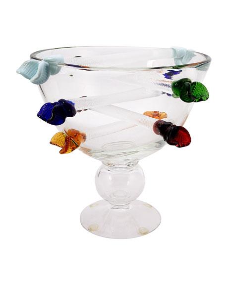 Lynn G Feld Antiques Vintage Murano Glass Bowlvase C 1980s