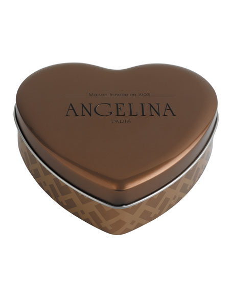 Assortment of Chocolate Pralines in Heart Tin