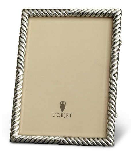 Deco Twist Platinum-Plated Picture Frame, 4 x 6
