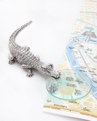 Crocodile Platinum Magnifying Glass