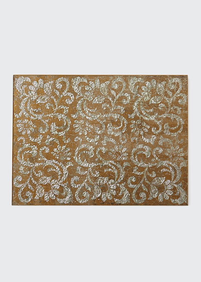 GLASS SLV/TAN LACE PMAT