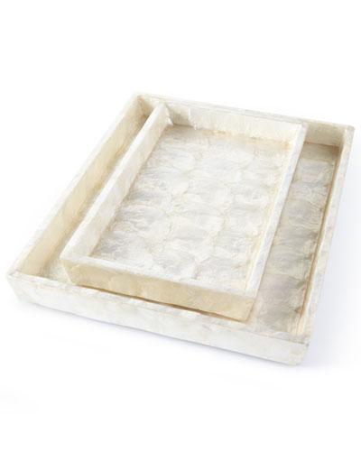 Andria Capiz Vanity Trays  Set of 2