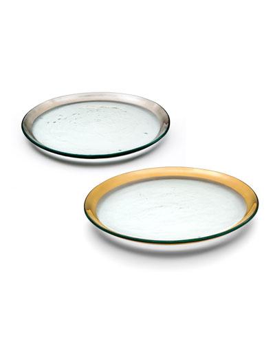 Roman Antique Platinum Buffet Plate