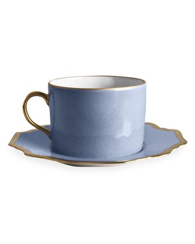 Anna's Palatte Sky Blue Tea Saucer