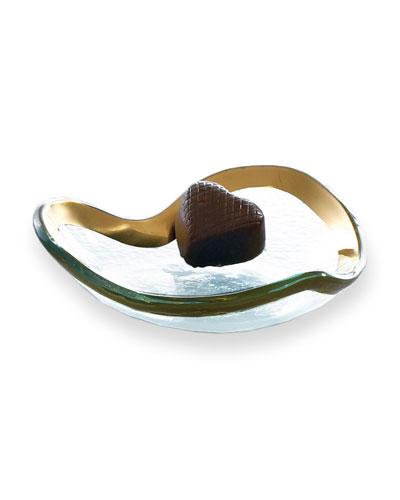 Roman Antique Gold 5 Heart Bowl