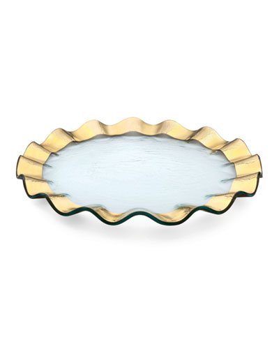 Ruffle 13 Gold Buffet Plate
