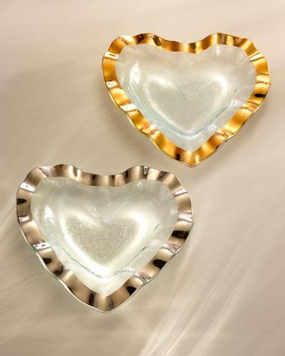 Ruffle Gold 8 Heart Bowl