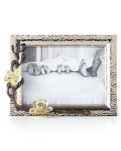 Gold Orchid 5 x 7 Picture Frame