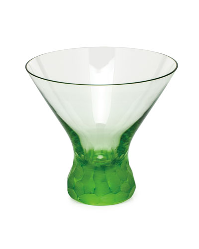 Pebbles Ocean Green Martini Glass
