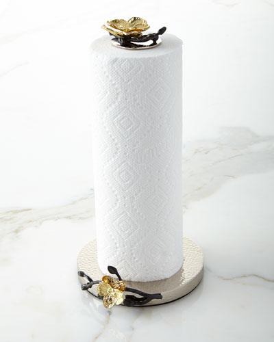 Gold Orchid Paper Towel Holder