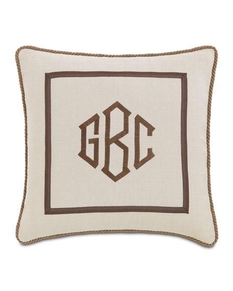 Vivo Bisque Pillow with Monogram