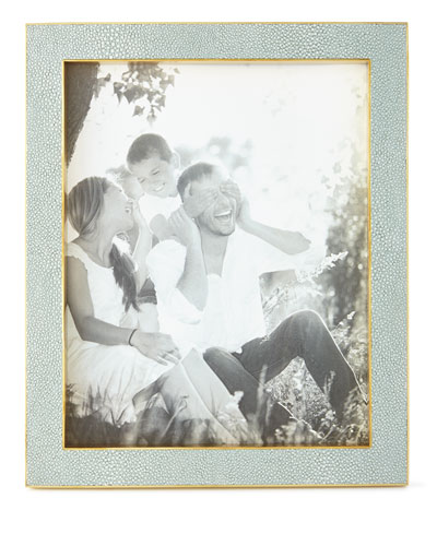 Mist Classic Faux-Shagreen 8 x 10 Picture Frame