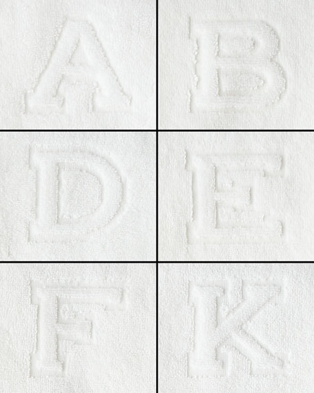 Auberge Monogrammed Face Cloth