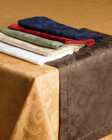 """Plume Jacquard 70"""" x 108"""" Tablecloth"""