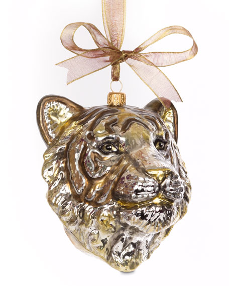 Gilded Tiger Head Ornament
