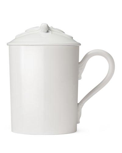 Porcelain Mug with Bee Lid
