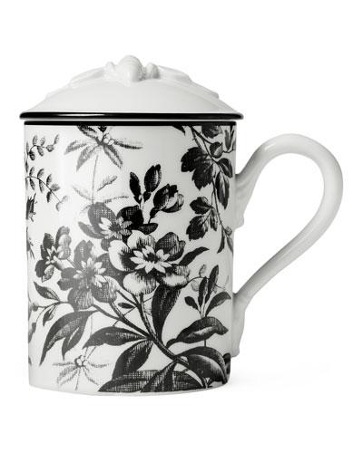 Bee Floral Mug with Lid