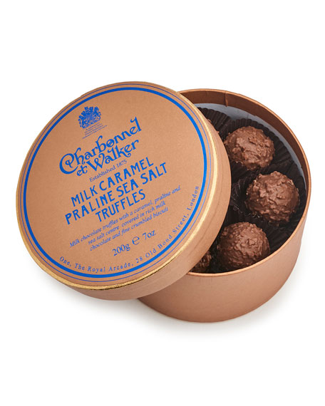 Milk Sea Salt Caramel Praline Truffles