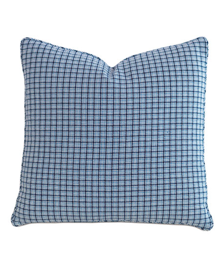 "Watermill Indigo Decorative Pillow, 22""Sq."