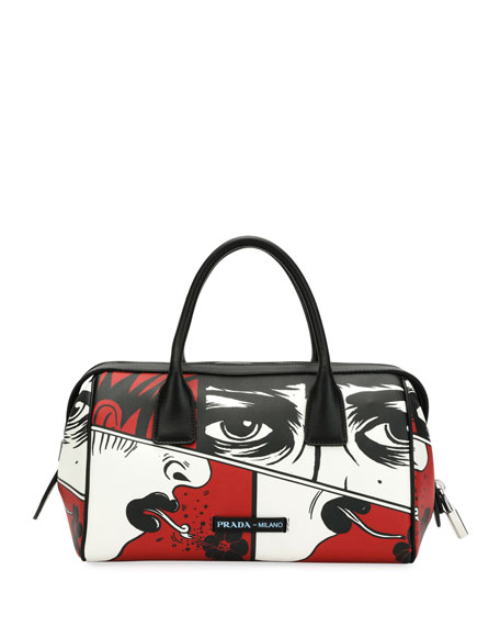 7b08650ef3d0 Prada Comic Face Grace Lux Duffel Bag