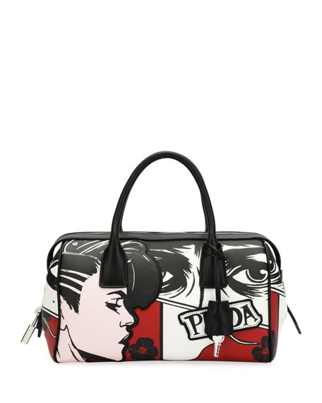 Comic Face Grace Lux Duffel Bag