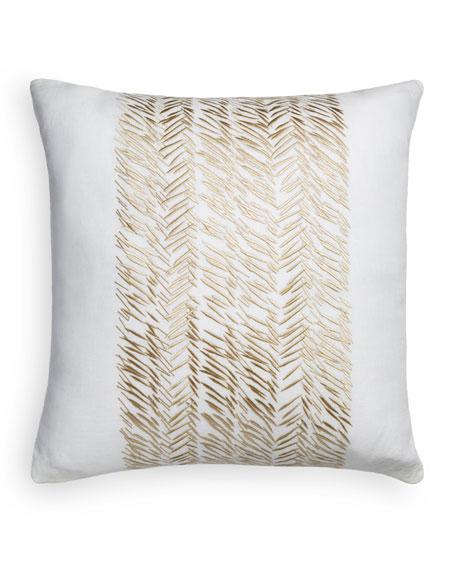 "Golden Mark Decorative Pillow, 20""Sq."