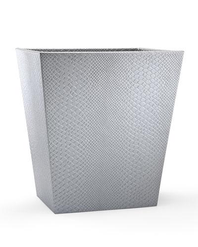 Conda Wastebasket  Silver