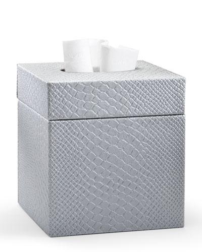 Conda Tissue Box Cover  Silver