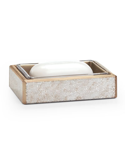 Miraflores Soap Dish  Gold
