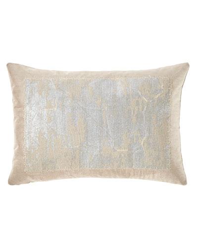 Distressed Metallic Lace Pillow