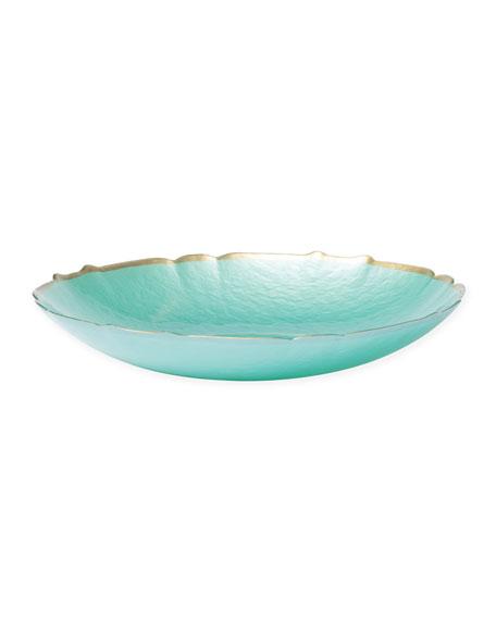 Pastel Glass Medium Bowl, Aqua