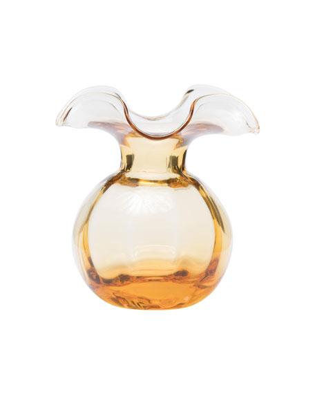 Hibiscus Glass Bud Vase, Amber