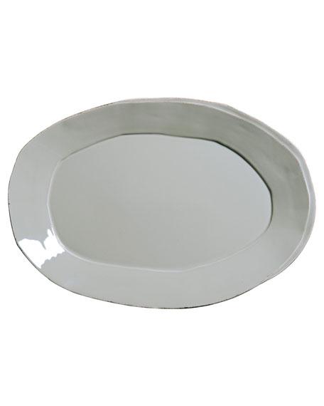 Lastra Oval Platter, Gray