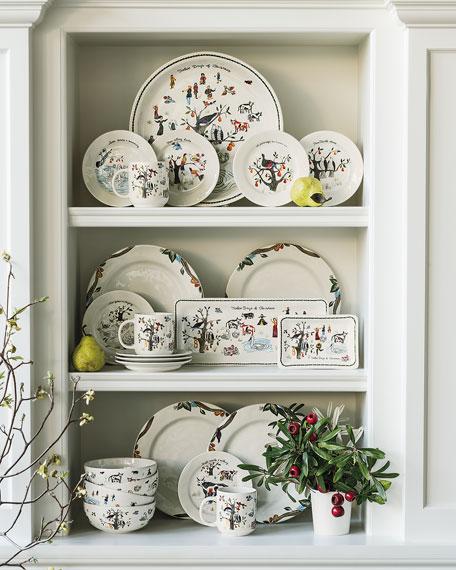 Twelve Days of Christmas Rectangular Hostess Tray
