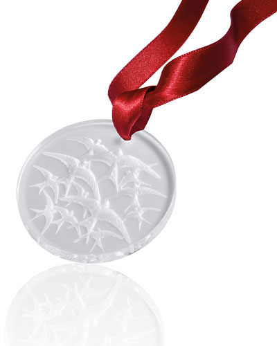 2018 Hirondelles Crystal Christmas Ornament, Clear