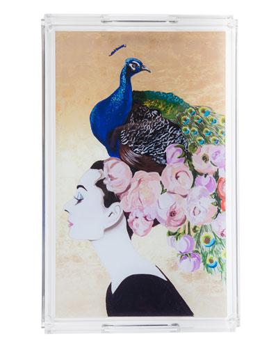 Audrey Peacock Acrylic Tray
