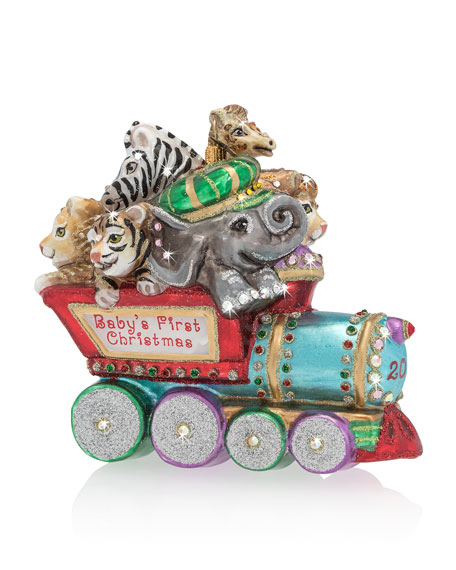 Image 1 of 1: Baby's First Christmas Train Christmas Ornament