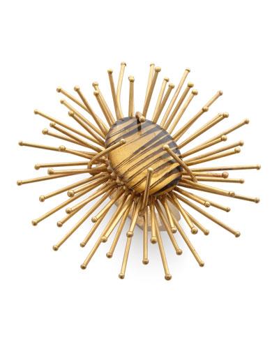 Sun Flare Metal Napkin Ring  Golden