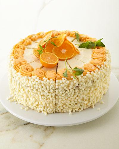 10 White Chocolate Orange Creamsicle Cake