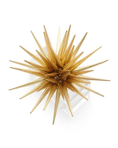 Astrid Starburst Napkin Ring, Golden
