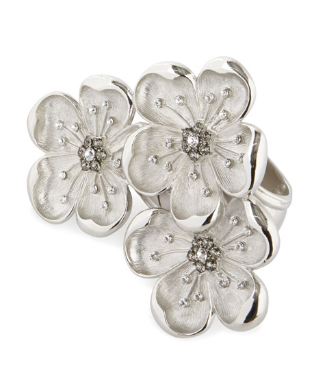 Image 1 of 1: Flower Trio Napkin Ring, Set of 4