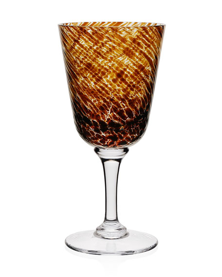 Vanessa Wine Glass, Tortoise