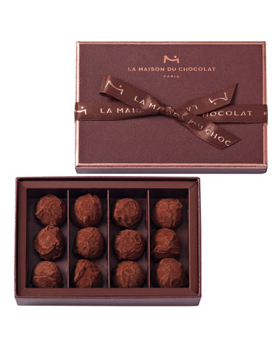 12-Piece Dark Chocolate Truffles Box