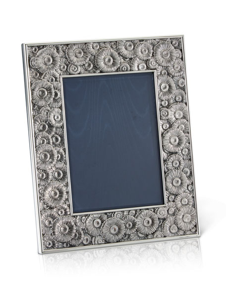 "Daisy Silver & Leather Picture Frame, 5"" x 7"""